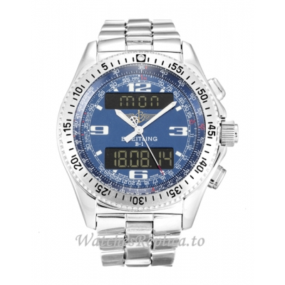 Breitling Blue Dial B1 A68362-44 MM