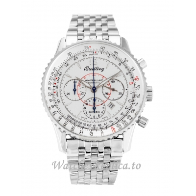 Breitling Montbrillant White Dial A41330 38 MM
