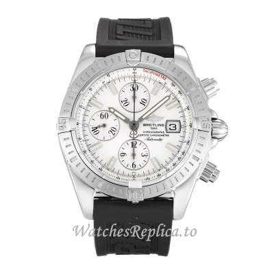 Breitling Chronomat Evolution Mother of Pearl   White Dial A13356 44MM