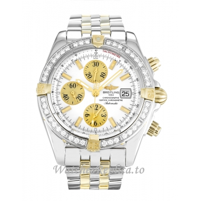 Breitling Chronomat Evolution Mother of Pearl   White Dial B13356 44 MM
