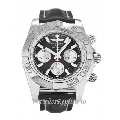 Breitling Chronomat Black Dial 44 AB0110 43 MM