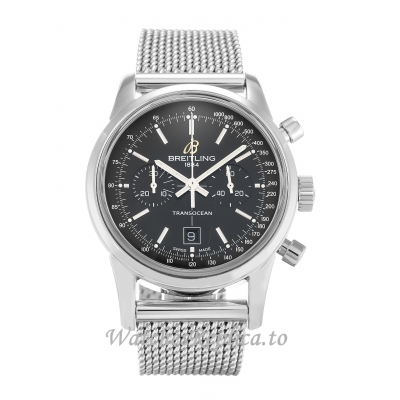 Breitling Transocean Chronograph Black Dial A41310 38 MM