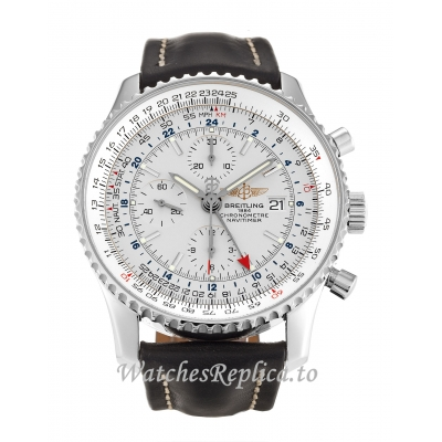 Breitling Navitimer World Silver Dial A24322-46 MM