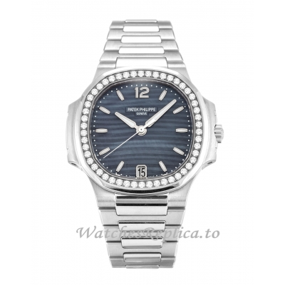 Patek Philippe Nautilus Mother of Pearl   Blue Dial 7018/1A 34 MM