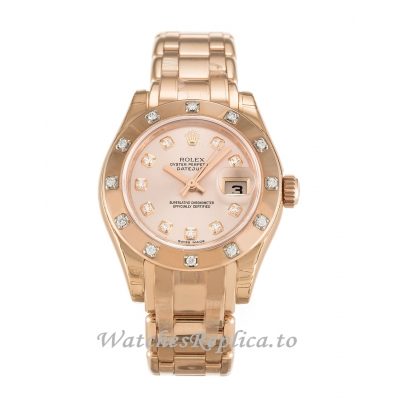 Rolex Pearlmaster Rose Diamond Dial 80315-29 MM
