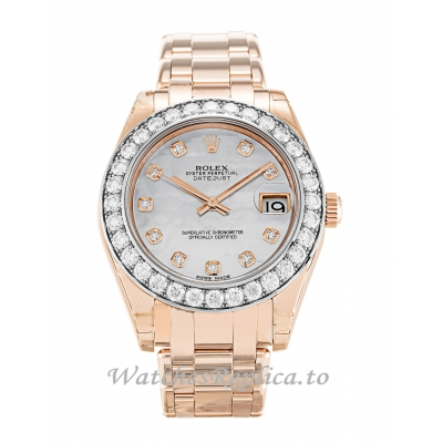 Rolex Pearlmaster Mother of Pearl - White Diamond Dial 81285-34 MM