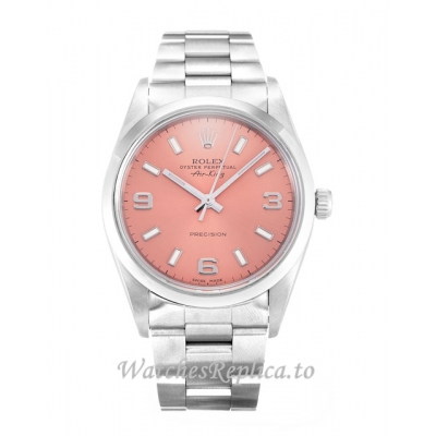 Rolex Air-King Pink Dial 14000-34 MM