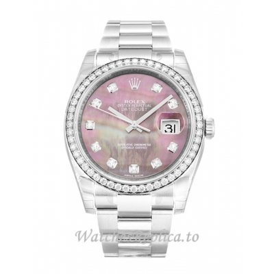 Rolex Datejust Mother of Pearl   Black  Diamond Dial 116244 36MM