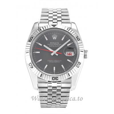 Rolex Turn O Graph Grey Dial 116264 36MM