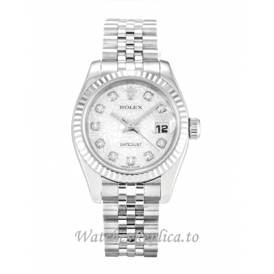 Rolex Datejust Lady Silver Jubilee Diamond Dial 179174 26MM