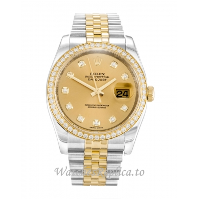 Rolex Datejust Champagne Diamond Dial 116243-36 MM
