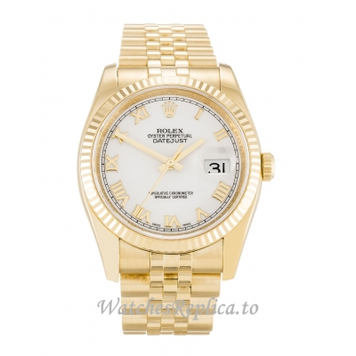 Rolex Datejust White Dial 116238 36MM