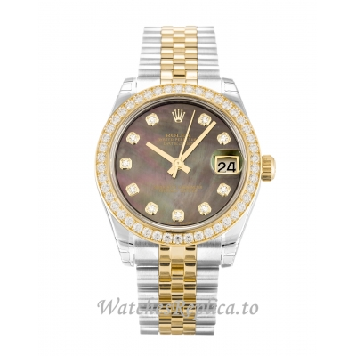 Rolex Datejust Lady Mother of Pearl Black   Diamond Dial 178383 31MM
