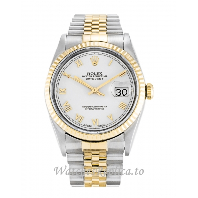 Rolex Datejust White Dial 16233-36 MM