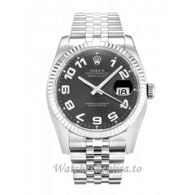 Rolex Datejust Black Concentric Dial 116234 36MM