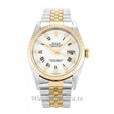 Rolex Datejust White Diamond Dial 16233 36MM