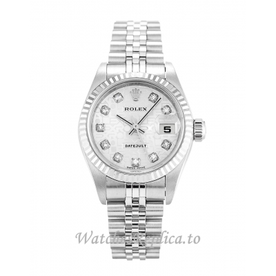 Rolex Datejust Lady Silver Jubilee Diamond Dial 79174 26MM