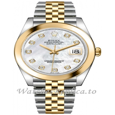 Rolex Datejust 126303-0018 Yellow Gold With Stainless Steel Strap 41mm