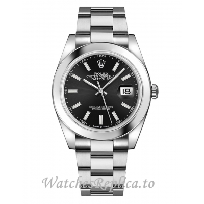 Rolex Datejust Fake 126300-0011 Black Dial Men's Watch 41MM