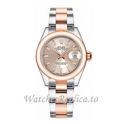 Fake Rolex Lady Datejust 279161-0002 Sundust Dial Watch 28MM