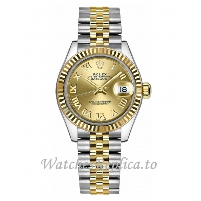 Replica Rolex Datejust 279173-0009 Yellow Gold Dial 28mm