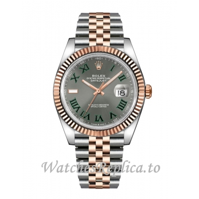 Rolex Datejust Fake 126331-0016 Slate Grey Wimbledon Dial 41MM