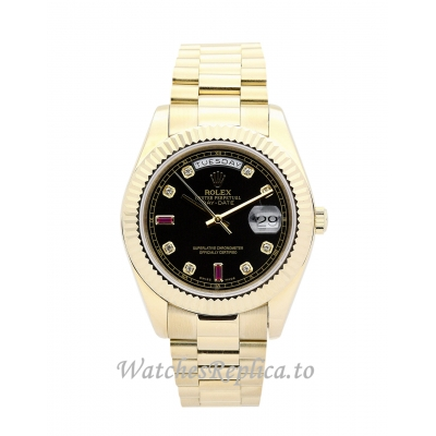 Rolex Day-Date Black and Champagne Diamond Dia 118238-36 MM