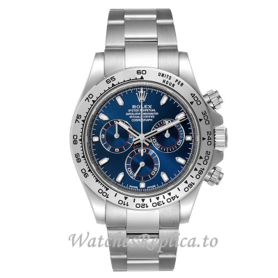 Replica Rolex Cosmograph Daytona Blue Dial 116509 40MM