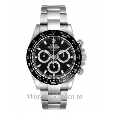 Rolex Daytona Replica Ceramic Bezel Black Dial Mens Watch 116500 40MM