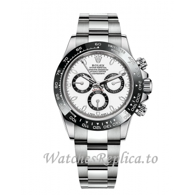 Rolex Cosmograph Daytona Replica 116500LN-0001 White Dial Men's Watch 40mm