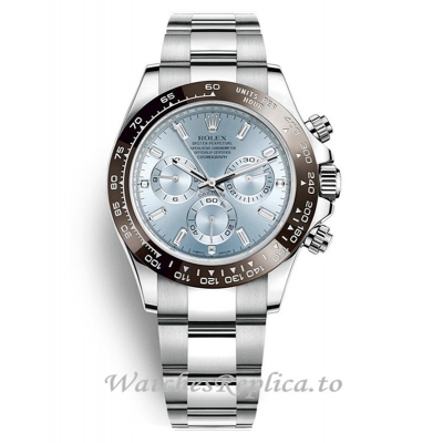 Rolex Daytona Ice Blue Dial Platinum Watch 116506 40MM
