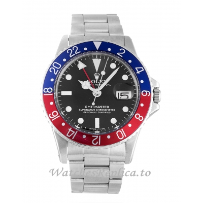 Rolex GMT Master Black Dial 1675-40 MM