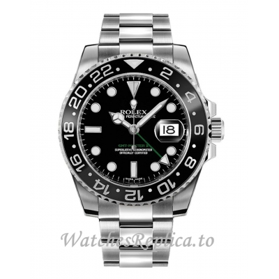 Fake Rolex Gmt-Master II Replica 116710LN-0001 Black Dial 40mm