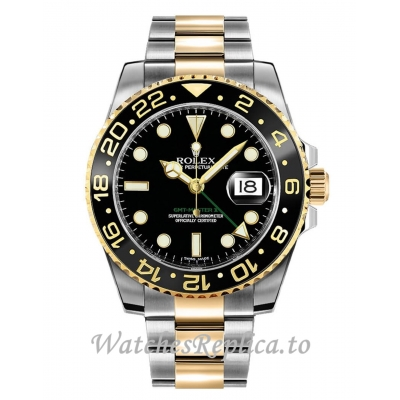 Fake Rolex GMT-Master II 116713LN-0001 Black Dial Men's Watch 40MM