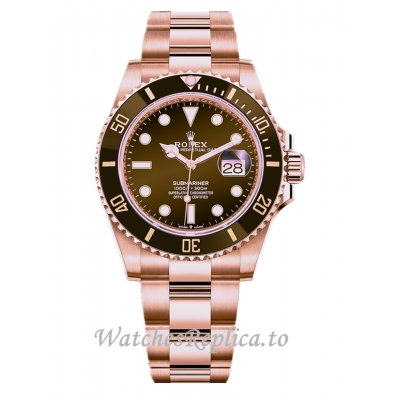 2021 Rolex Submariner Replica Rose Gold 126605CH 41mm