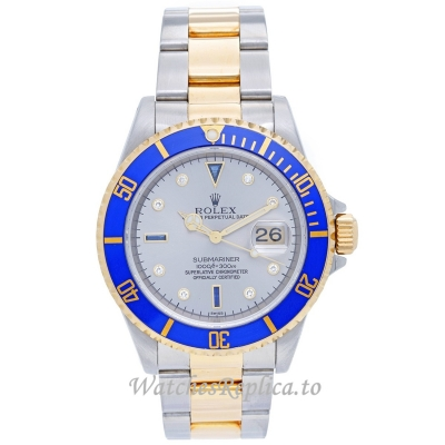 Rolex Submariner Replica Watches Blue Ceramic Bezel 16613 40MM