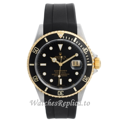 Rolex Submariner Replica Watches Rubber Strap 16613 40MM