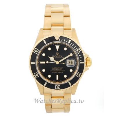 Rolex Submariner Replica Watch Rose Gold Case 16618 40MM