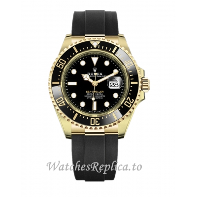 2021 Rolex Sea Dweller Replica Yellow Gold 126608 43mm