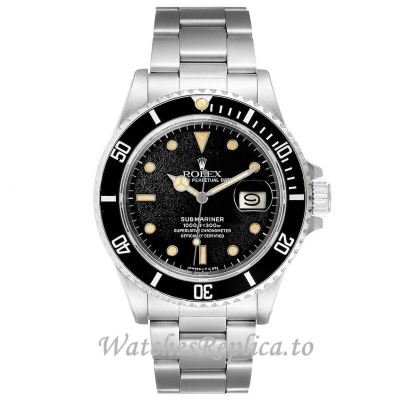Replica Rolex Submariner Watch Black Dial 168000 40MM