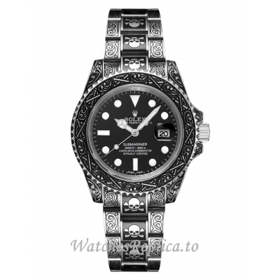 Rolex Submariner Replica Skull Limited Black Dail Hot Sale 41MM