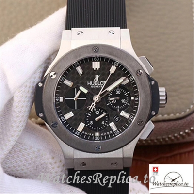 Swiss Hublot Big Bang Steel Ceramic Replica 301.SB.131.RX Black Strap 44MM