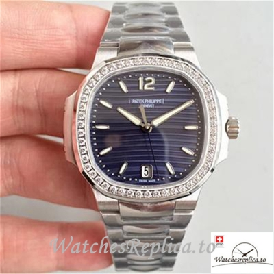 Swiss Patek Philippe Nautilus Ladies Replica 7018/1A-010 Diamonds Bezel 35.2MM