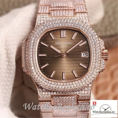 Swiss Patek Philippe Nautilus Replica 5711-1R Diamonds Bezel 40MM