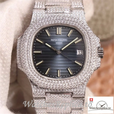Swiss Patek Philippe Nautilus Replica 5719-10G Diamonds Bezel 40MM