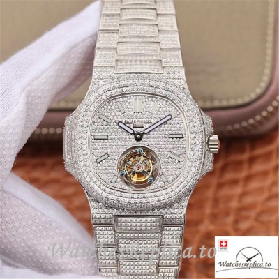 Swiss Patek Philippe Nautilus Jumbo Replica 5711 008 Diamonds Bezel 40MM