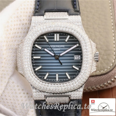Swiss Patek Philippe Nautilus Jumbo Replica 5719/1G-001 003 Black Strap 40MM