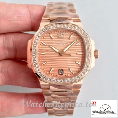 Swiss Patek Philippe Nautilus Ladies Replica 7118/1200R Diamonds Bezel 35.2MM
