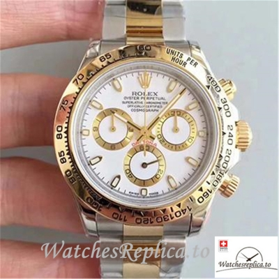 Swiss Rolex Daytona Cosmograph Replica 116503 003 Yellow Gold Strap 40MM
