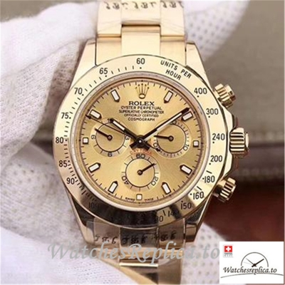 Swiss Rolex Daytona Cosmograph Replica 116503 004 Gold Strap 40MM